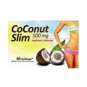Cura de slabit - Coconut Slim, 500 mg, 60 capsule