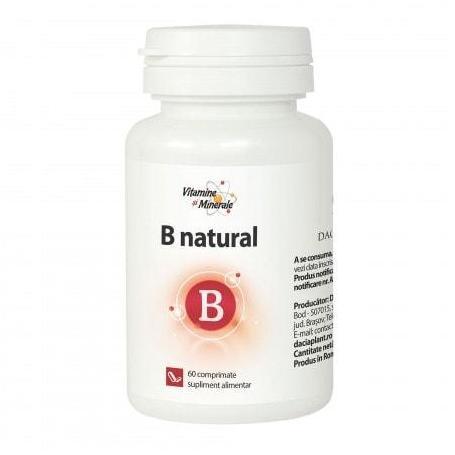B Natural, 60 comprimate, Dacia Plant