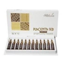Fiole pentru par cu placenta, Placenta Seb, 10 ml x 12 fiole