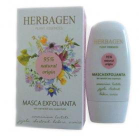 Masca de fata, exfolianta, ten cuperozic, sensibil, 50 ml, Herbagen