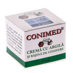 Crema cu argila si rasina de conifere Conimed, 50 ml, Elzin Plant