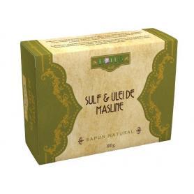 Sapun Natural cu Sulf si Ulei de Masline, 100 g, Lotus