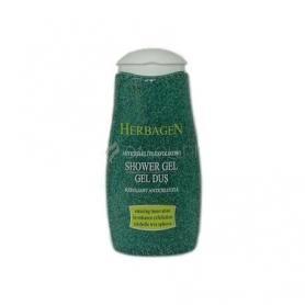 Gel de dus exfoliant anticelulita, 250 ml, iedera si castane, Herbagen