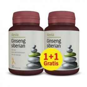 Pachet Ginseng Siberian Alevia 30cpr 1+1 gratis