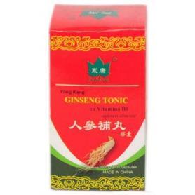 Ginseng tonic cu vitamina B1 (Tiamina), 30 capsule, Yong Kang